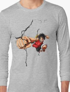 Luffy - Cracked Long Sleeve T-Shirt
