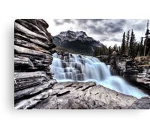 Athabasca Waterfall Alberta Canada river flow and blurred water Canvas Print