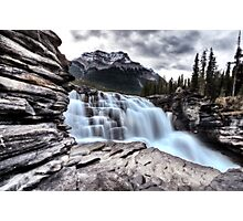 Athabasca Waterfall Alberta Canada river flow and blurred water Photographic Print