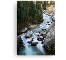 Athabasca River Rocky Mountains white water Canada Canvas Print