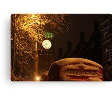Big ben winter time Canvas Print