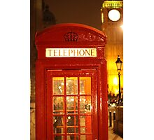 Phone box and Big Ben Photographic Print