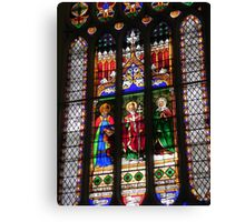 Stain Glass Detail Canvas Print