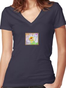 The Lotus Rises From The Mud Women's Fitted V-Neck T-Shirt