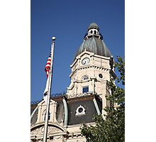 Terre Haute, Indiana - Courthouse Photographic Print