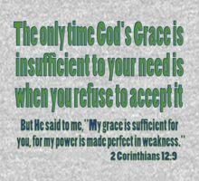 God's sufficient grace, 2cor 12:9 One Piece - Short Sleeve