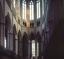 Altar and apse Rodez Cathedral 198402280063  by Fred Mitchell