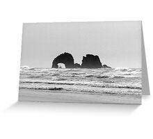 Twin rocks Oregon Greeting Card