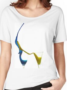 Exploding glasses of paint on white background High speed photography  Women's Relaxed Fit T-Shirt