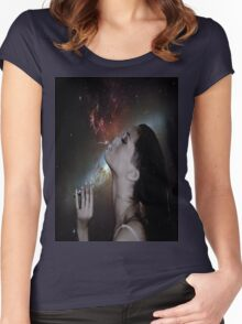 Rihanna Space Women's Fitted Scoop T-Shirt
