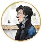 Sherlock watercolor by kahahuna