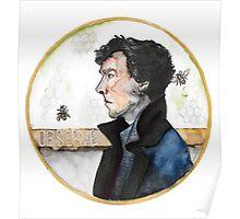 Sherlock watercolor Poster