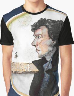 Sherlock watercolor Graphic T-Shirt
