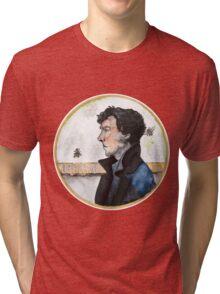 Sherlock watercolor Tri-blend T-Shirt