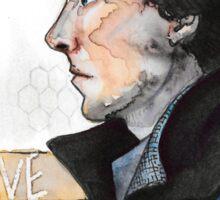 Sherlock watercolor Sticker