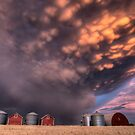 Sunset Storm Clouds Canada lightning granary Saskatchewan by pictureguy