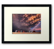 Sunset Storm Clouds Canada lightning granary Saskatchewan Framed Print