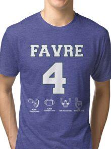 Brett Favre - Career Stats Tri-blend T-Shirt