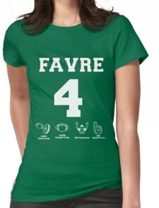 Brett Favre - Career Stats Womens Fitted T-Shirt