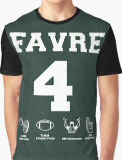 Brett Favre - Career Stats Graphic T-Shirt