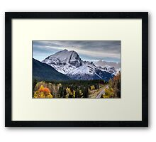 Rocky Mountains Kananaskis Alberta Canada in the Autumn Fall Framed Print