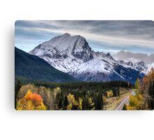 Rocky Mountains Kananaskis Alberta Canada in the Autumn Fall Canvas Print