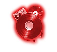 Music (R)Evolution [red] Photographic Print