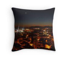 Granada at night Throw Pillow