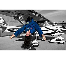Model and plane  Photographic Print