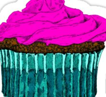 Cupcake Love...Is It Ever Wrong? (w/ black text) Sticker