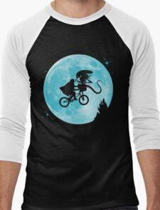 E.T. vs Aliens - transparent Men's Baseball ¾ T-Shirt