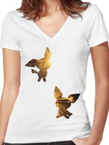 The Pichu Brothers used Spark Women's Fitted V-Neck T-Shirt