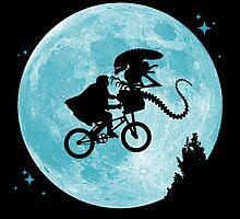 E.T. vs Aliens poster by runstop