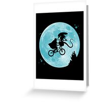 E.T. vs Aliens poster Greeting Card