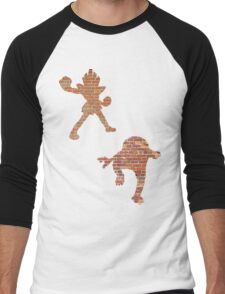 Hitmonlee and Hitmonchan Men's Baseball ¾ T-Shirt