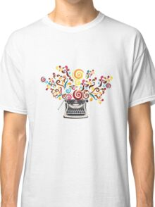 Creativity - typewriter with abstract swirls Classic T-Shirt