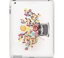 Creativity - typewriter with abstract swirls iPad Case/Skin