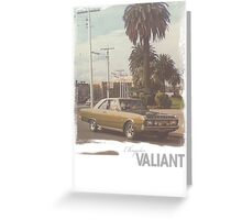Chrysler Valiant vintage tee Greeting Card