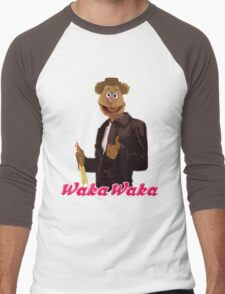 Fonzie Bear Waka Waka Men's Baseball ¾ T-Shirt