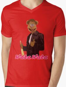Fonzie Bear Waka Waka Mens V-Neck T-Shirt