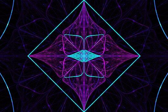 Purple Diamond by Sandy Keeton