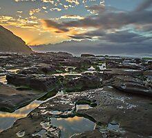 Sunrise on the Rocks by bazcelt