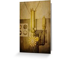 Old Time Machine Greeting Card