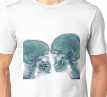 Kissing Couple. Two people kissing under x-ray Unisex T-Shirt