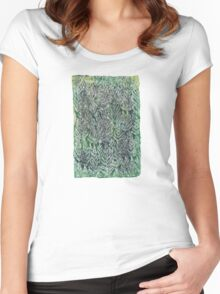 Snow Pines(Light Green) Women's Fitted Scoop T-Shirt