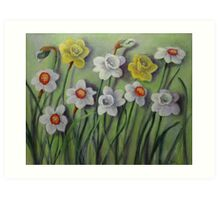 Daffodils Swaying Art Print