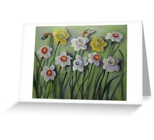 Daffodils Swaying Greeting Card