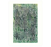Snow Pines(Light Green) Art Print