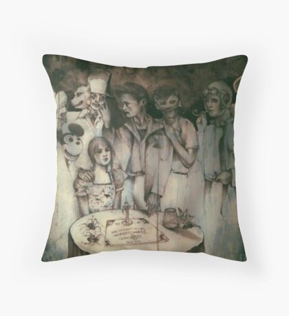 A Good Night For Ouija  Throw Pillow