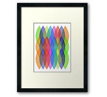 Textured Shapes Framed Print